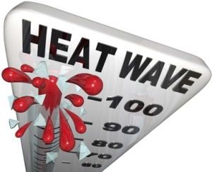 Heat Wave Temperatures on Thermometer