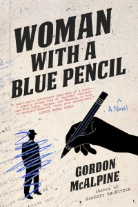 woman with blue pencil