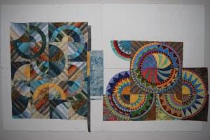 both quilt tops in progress